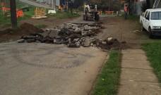 Importante avance lleva obra de pavimentación en calle Millantú de La Unión