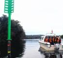 Continúa instalación de balizas entre Trumao y  Puerto La Barra en el río Bueno
