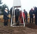 Autoridades colocan primera piedra para sala cuna y jardín infantil que se construye en beneficio de las familias de Mashue