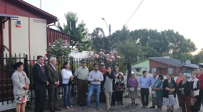 Inauguran alarmas comunitarias que brindarán mayor seguridad a vecinos del barrio Maitén Sur